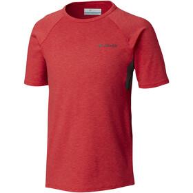 Columbia Silver Ridge II Kortærmet T-shirt Børn rød